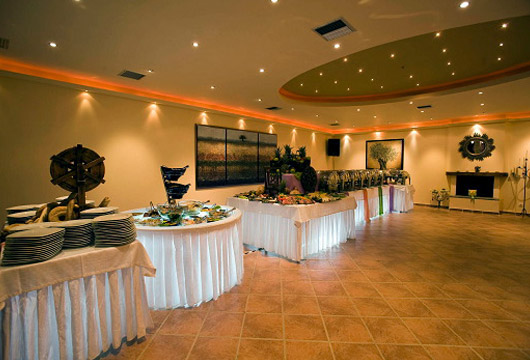 Image of indoor hall. Villa Pelagos
